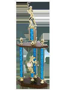 2 tier large baseball trophy