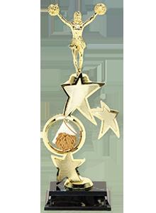 tall cheerleader trophy