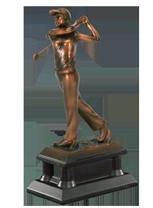 resin golf trophy